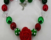 Bubblegum chunky Christmas Necklace for little girls photoprop too