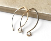 Gold filled almond ear wires, four pair, Gold Filled Findings