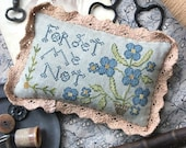 Forget Me Not : Cross Stitch Pattern by Heartstring Samplery