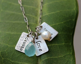 Three Small Words Necklace