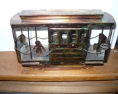 Vintage Copper Trolley Car Music Box - I Left My Heart In San Francisco
