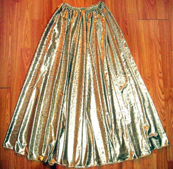 gold color sparkly maxi skirt ameynra by ameynradesign