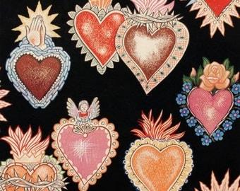 Alma y Corazon Black  - Alexander Henry Scenes 1 Yard Fabric