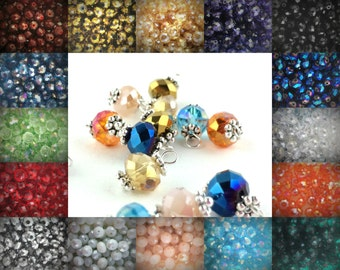 2pcs Additional Crystal Dangles - Birthstone Crystal Charms - Birthstone Add on Beads - Glass Crystal Rondelle Charms