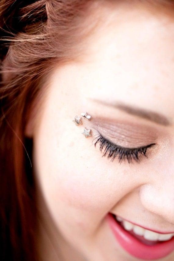 Silver Star Eye Decals