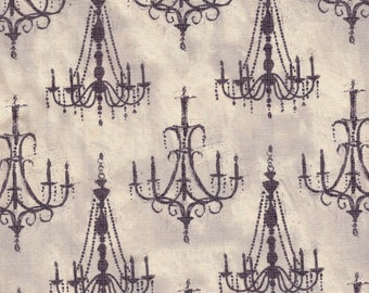 French Couture Chandeliers - Wild Apple Fabrics - 1 yard - More Available - BTY
