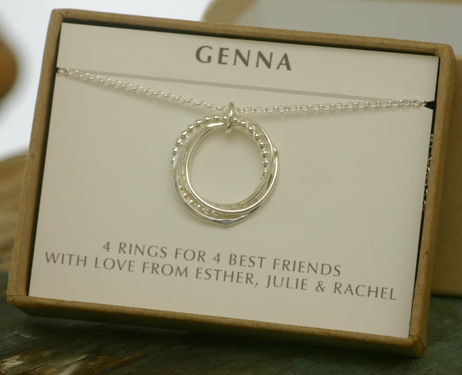 40th Birthday Gift 4 Best Friend Necklace 4 By