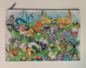Pokemon Original 151 Double Sided Zip Bag