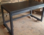 Jill - Custom Steel Top Desk