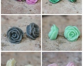 DARLING SERIES - Small Rose Earrings - 12mm - Buy 3 Get 1 FREE - Bridesmaids gift, surgical steel, hypoallergenic, everyday posts