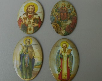 Greek Religious Icon, Metal. Wall Hanging, iconography, Instant collection