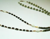 Gemstone Necklace Garnets, Freshwater Pearls, Crazy Horse Jasper, Fossil Beads - Classic Richness Luxury - SRAJD