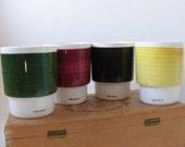 Vintage Dutch Van Nelle Ceramic Stackable Cups Tumblers Set of 4