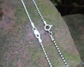"1.5 mm Sterling silver ball chain.  16"",18"", 20"", or 24"""