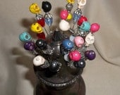 Skull Hat Pin- Choose Your Colors