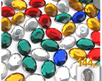 The Crafts Outlet 144-pc Rhinestones, Flatback, Oval 14mm