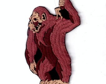 King Kong Gorilla holding woman Retro 1970's Vintage Sewing Patch Applique