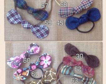 Fabric Bow Ponytail Holder, Plaid Bow, Bow Headband, Fabric Bow Hair Band, Hair Bow