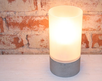 Concrete and Glass Table Lamp