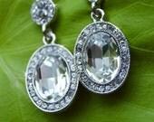 Bridal earrings -Art Deco Estate earrings -Gorgeous Vintage inspired drop earrings-Bridal -Prom - Bridesmaid