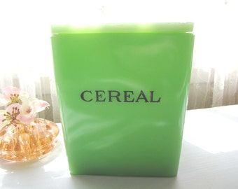Jadeite Green Cereal Canister Jeannette Fire King Canister Floral Poinsettia Lid Jadite Green from AllieEtCie
