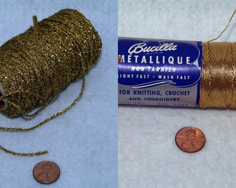 Vintage Bucilla Metallique Thread For Knitting, Crocheting & Embroidery