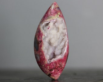 Gigantic Stone Geode Jasper & Quartz Statement Cabochon, Necklace Druzy, Crafting Bead, Gems