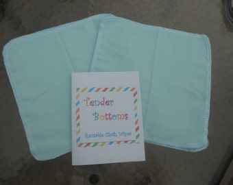"30 Ct 2 Ply Tender Bottoms Baby Wipes 8"" Square"