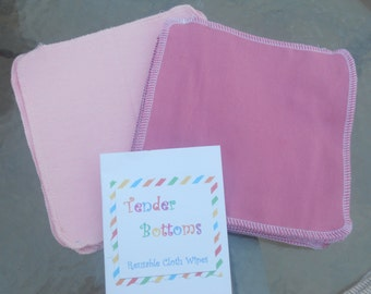 30 Ct 2 Ply Tender Bottoms Baby Wipes 8x8 inches