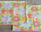 Vintage Retro Hearts & Flowers Standard Pillow Cases, Set of 2