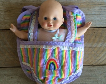 Adorable Vintage Child Size Baby Wearing Backpack