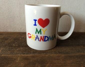 """Vintage """"I Love My Grandma"""" Mug"""