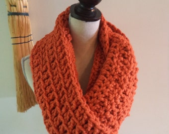 Sale pumpkin wool infinity scarf fall