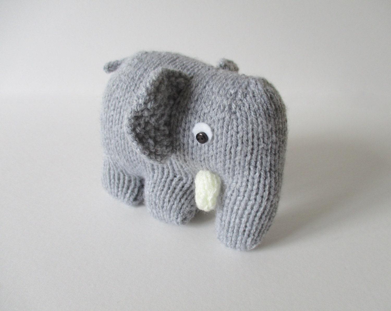 Hatty the Elephant toy knitting patterns
