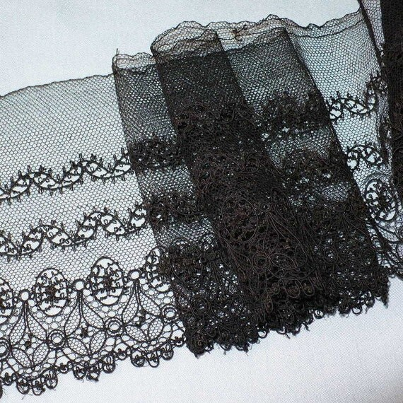 5 Victorian Lace Black Lace By The Yard Lace By