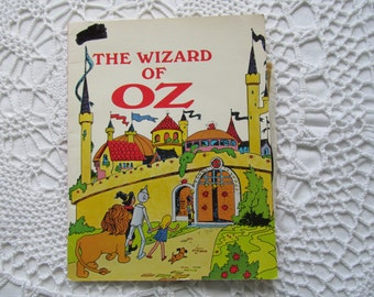 Vintage The Wizard of Oz Childrens Book and Record Set 1970 Educational Reading Service