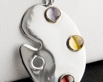Painter's Palette Sterling Silver Charm
