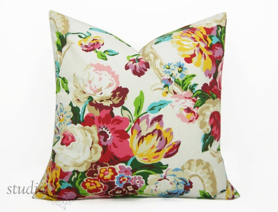 Modern Floral Pillow : Modern Floral Pillow Cover You pick the size from 16 to 26
