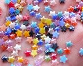 Super Tiny Star Ceramic Cabochon (100pcs / 4mm / Mix / Flatback) Assorted Mini Star Sprinkles Nail Art Stud Embellishment Card Making NAC295