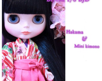 Hakama  Blythe,DAL,Licca Takara BJD Doll.