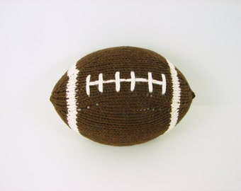 Hand-Knit Football- with stripes