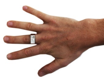 Man Ring Silver Wedding Band Personalized Rings Jewellery