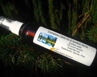 Evergreen Clean Air Freshening Spray, Linen Spray, Non-Aerosol Room Spray