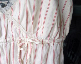 Vintage Camisole Cotton Ticking Stripe
