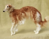 Needle felted dog, custom portrait, pose-able wool sculpture, memorial