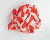 Parallels Gauzy Scarf - Geometric Modern Organic Cotton