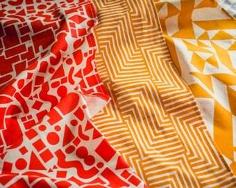 Shapes Table Runner - Geometric Modern Organic Cotton