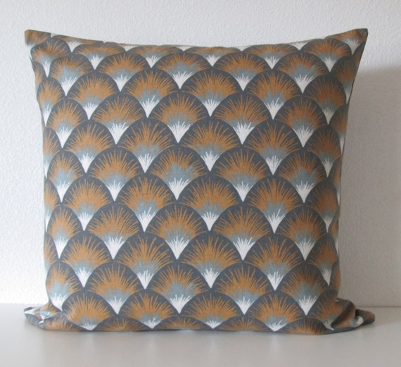 Types Of Decorative Pillow Shapes : Items similar to Setu Shapes Amber geometric gray gold decorative pillow cover on Etsy