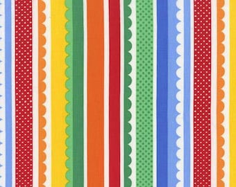 Carnival Stripes in Primary / Rainbow - Michael Miller Fabrics