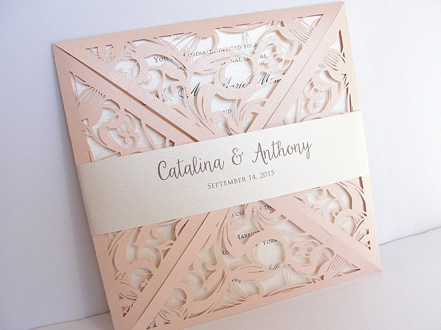 zoom - Blush Wedding Invitations